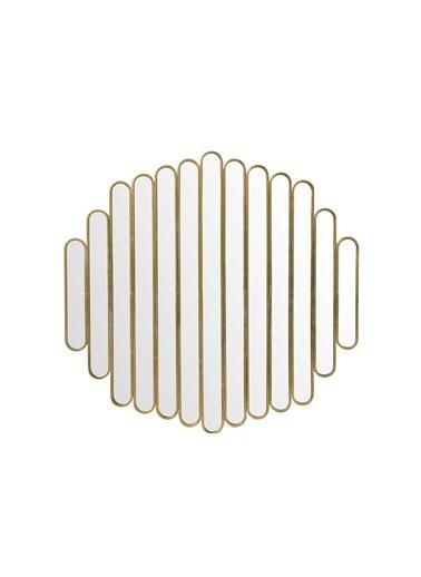 Warm Design Metal Duvar Aynası Altın